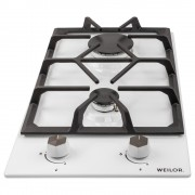 Поверхность газовая Domino на металле WEILOR GM 304 WH