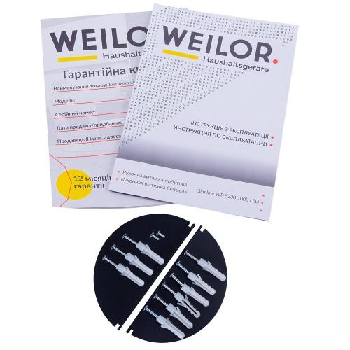 Вытяжка декоративная Т-образная WEILOR Slimline WP 6230 BL 1000 LED