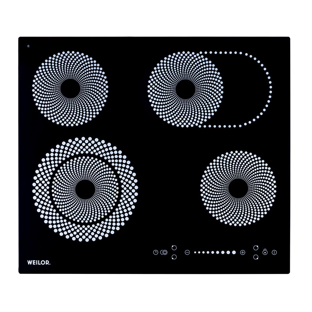 Поверхность стеклокерамическая WEILOR WHC 661 BLACK