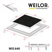 Поверхность индукционная WEILOR WIS 640 BLACK