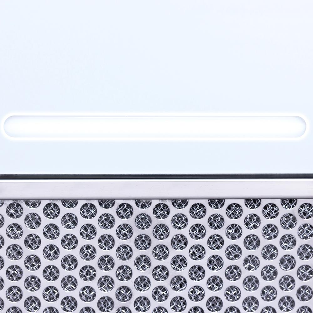 Вытяжка полновстраиваемая WEILOR PBS 52300 GLASS WH 1000 LED Strip
