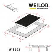 Поверхность индукционная Domino WEILOR WIS 322 WHITE