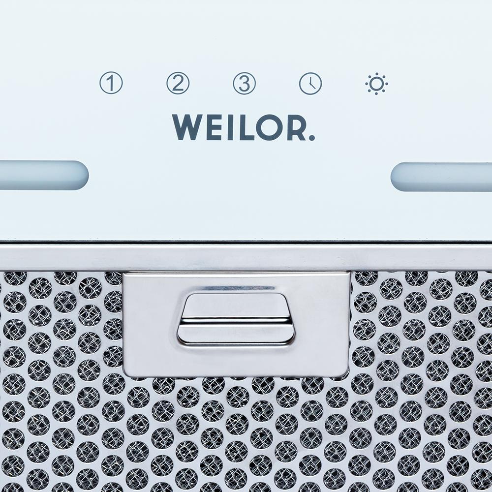 Вытяжка полновстраиваемая WEILOR PBS 72650 GLASS WH 1250 LED Strip