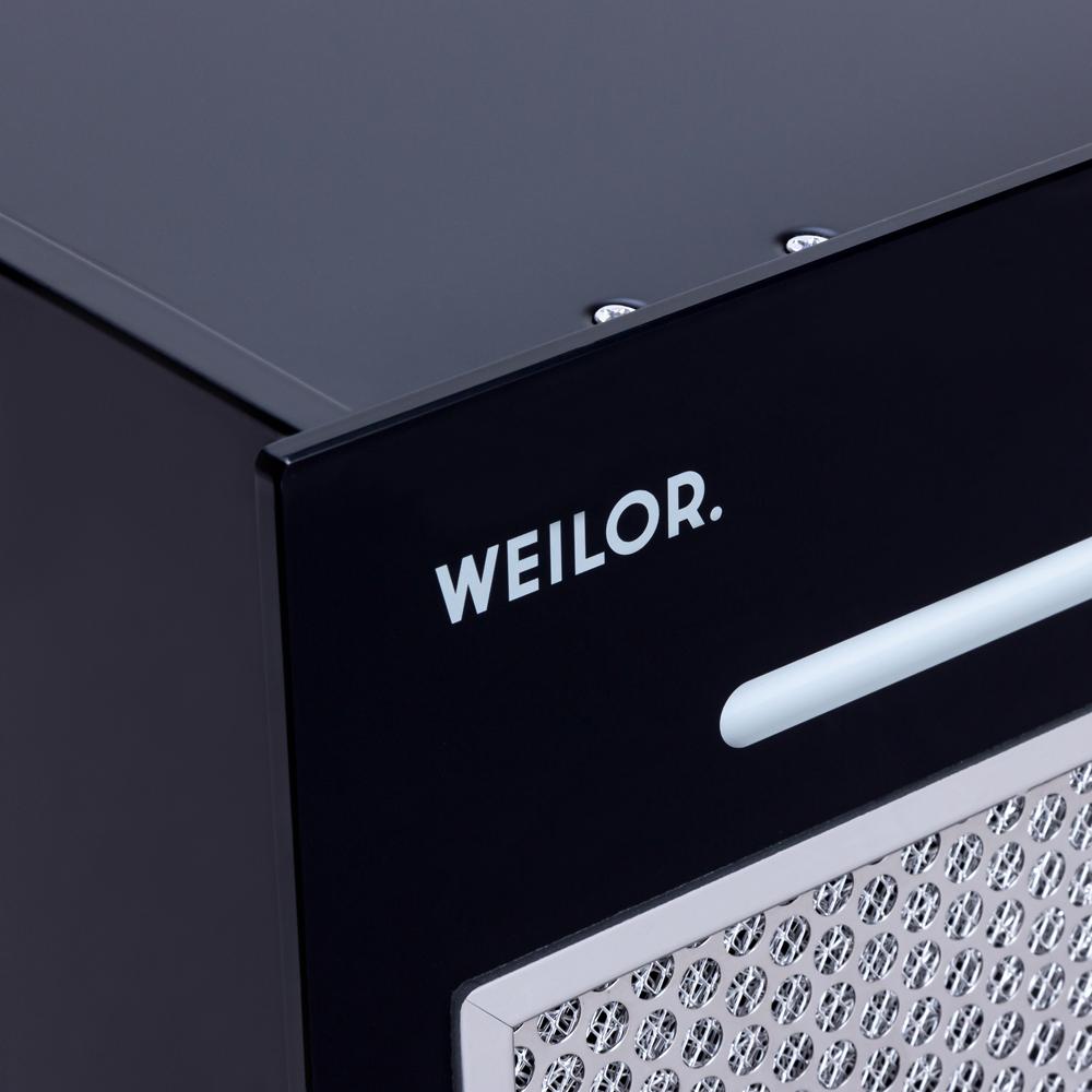 Вытяжка полновстраиваемая WEILOR PBSR 52651 GLASS BL 1300 LED Strip